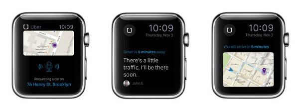 Uber apple watch