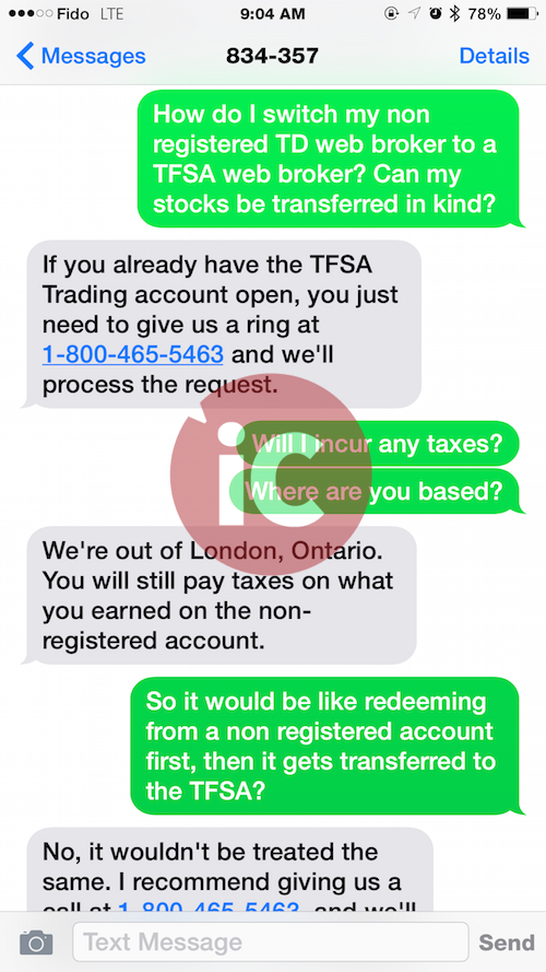 Sms td bank