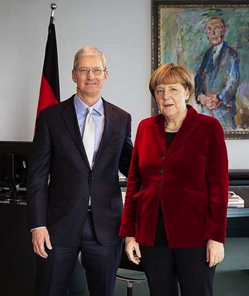 Tim Cook Angela Merkel
