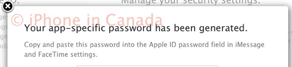 App specific password apple