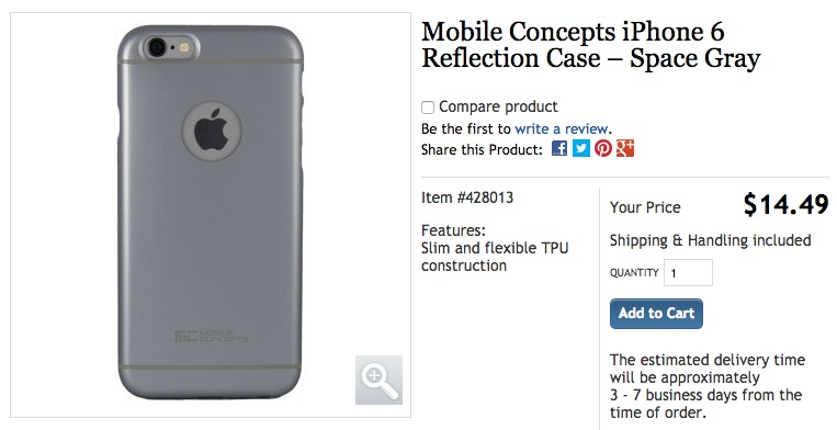 buy online 639ff 0cd59 Costco.ca: iPhone 6 Cases Available for $14.49 in Gold, Space Gray ...