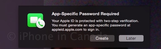 Facetime two step verification