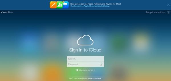 ICloud beta apple id
