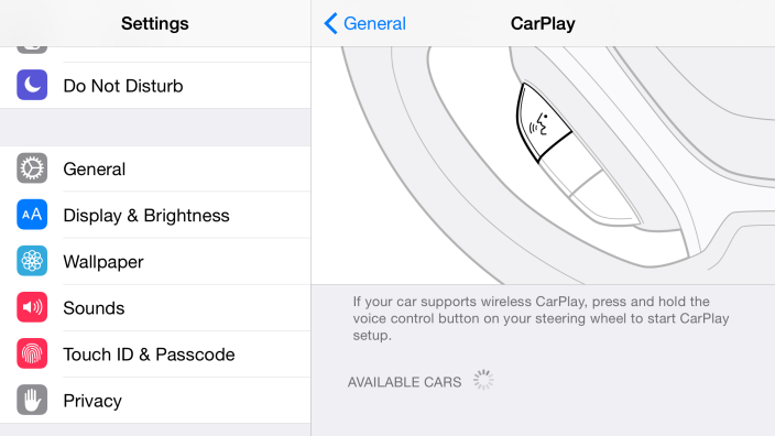 ios 8.3 wireless carplay