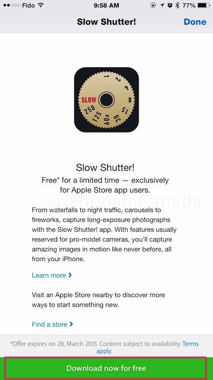 Get 'Slow Shutter!' for Free via the Apple Store iOS App