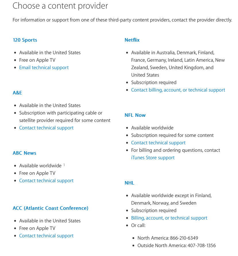 AppleTV_Content_Provider_List_and_Support