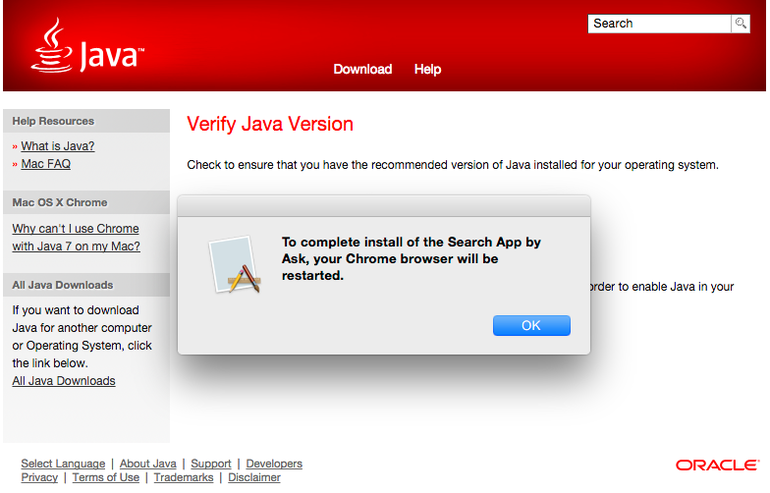 Java app chrome