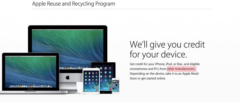 Apple reuse recylcing