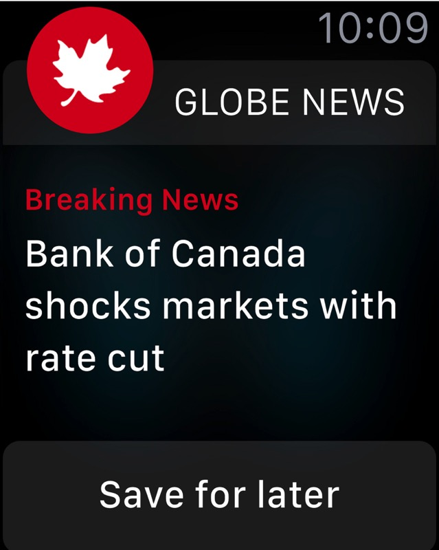 Globe and mail apple watch
