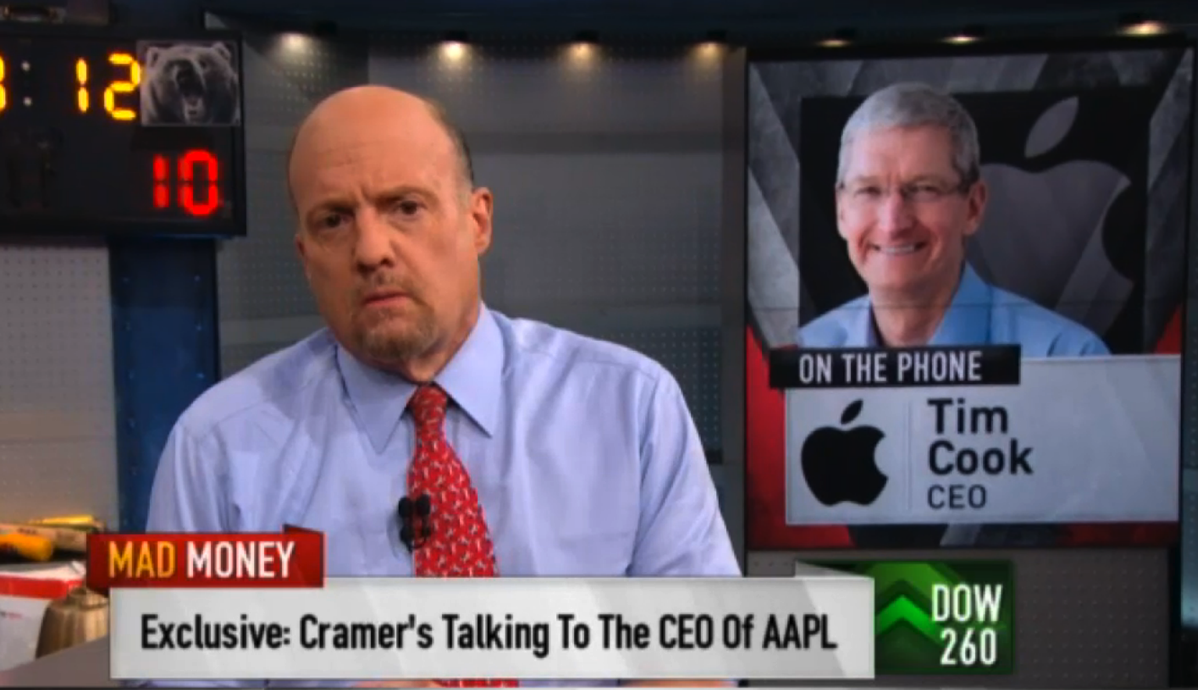 Jim cramer tim cook