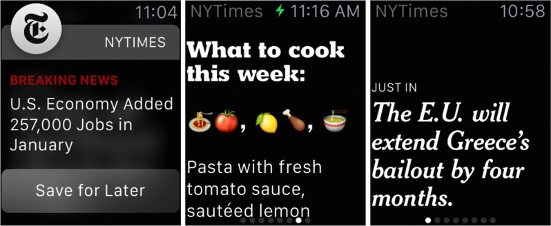 Nyt apple watch