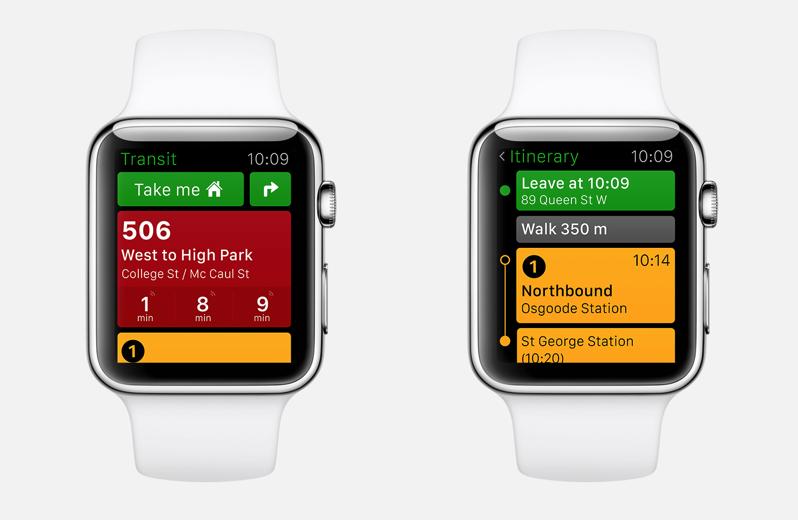 Transit app apple watch