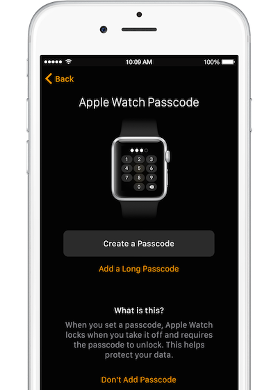 Watch iphone setup pair passcode