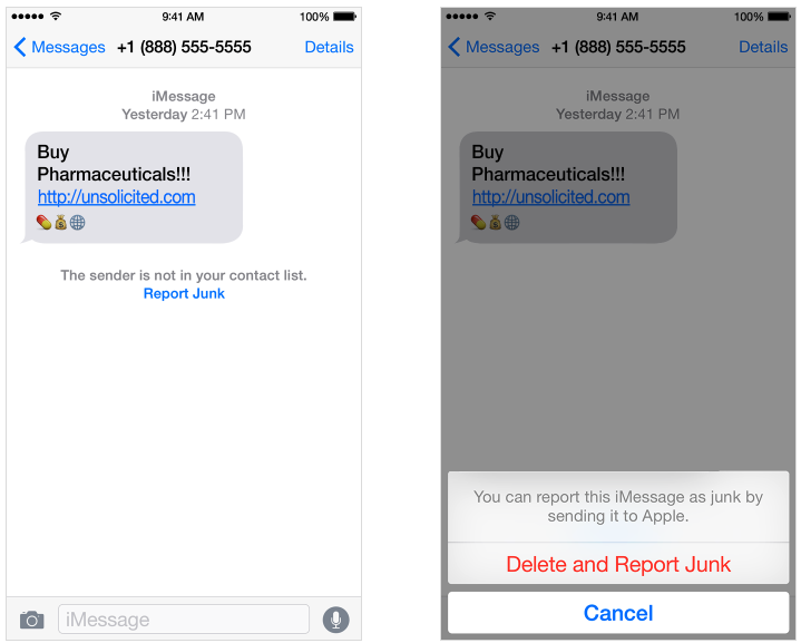 Report_Junk_iMessage