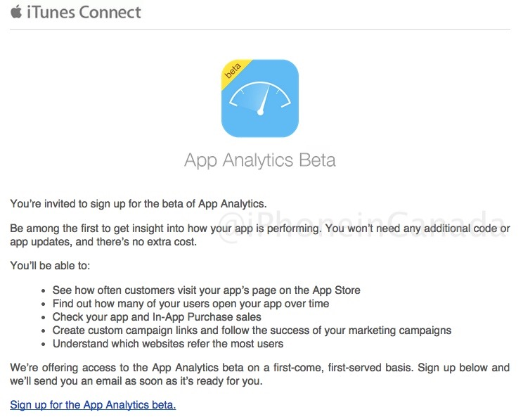 App analytics beta