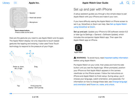 Apple Watch User Guide Download Now Available in the iBooks