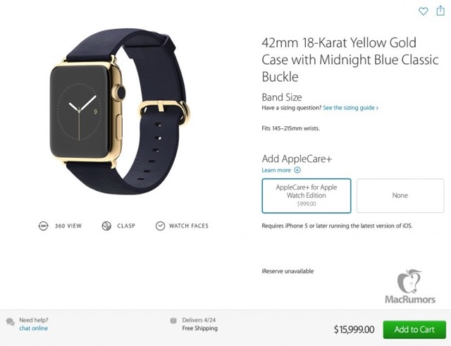 Applecare gold watch 800x614