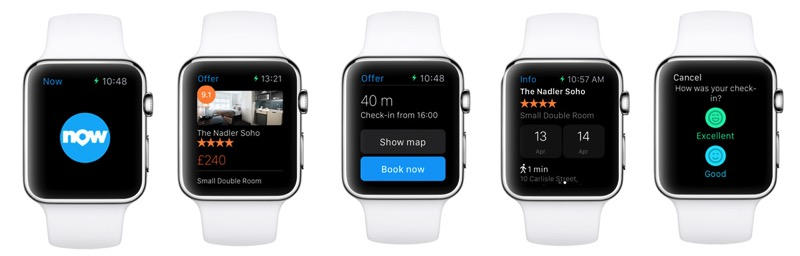 Booking com apple watch