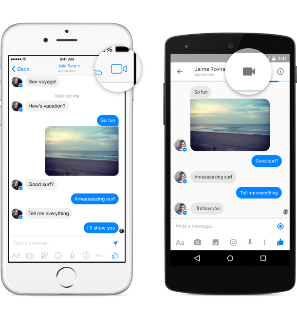 Messenger video call1
