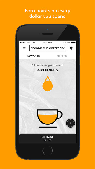 Second cup iphone