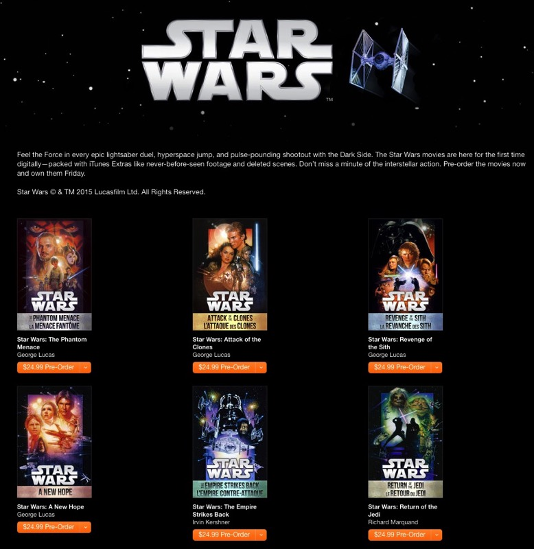 Pre-Order Now: Star Wars Digital Movie Collection Hits ...