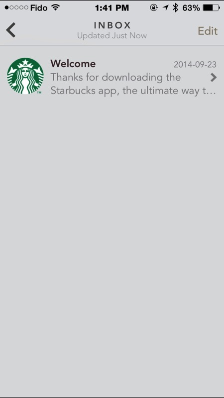 Starbucks Canada for iPhone Gets Apple Watch App, In-App Gifting and Inbox