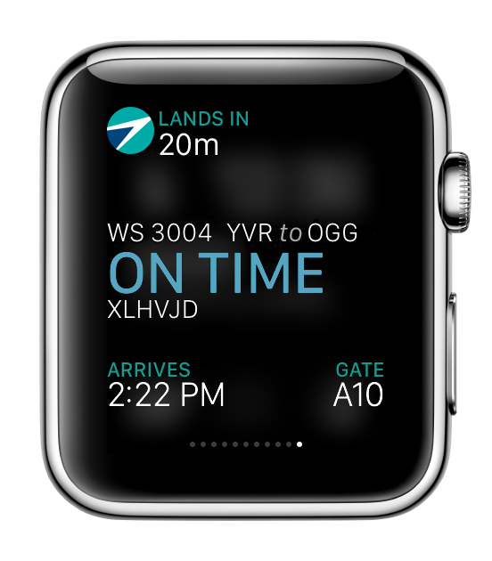 Westjet apple watch