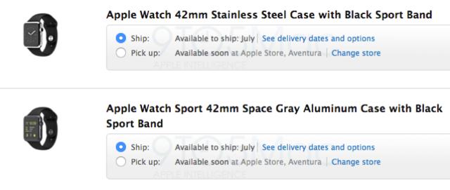 Apple watch ship