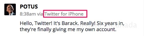 barack obama iphone tweet