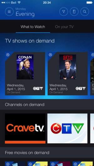 Bell Launches New Fibe TV App for Live TV, with Apple Watch