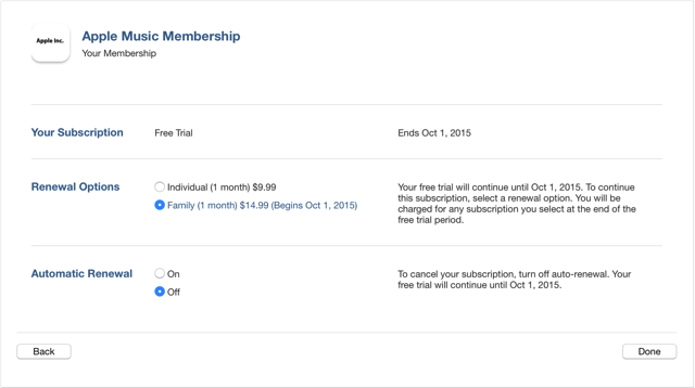 Mac apple music subscriptions auto renewal off