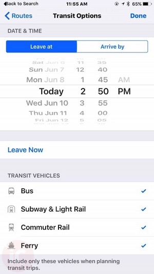 Apple maps toronto transit