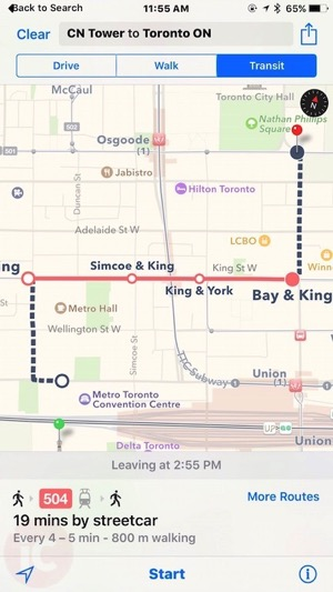 Apple maps toronto transit 2