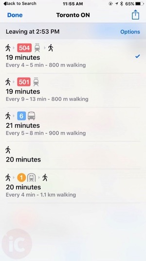 Apple maps toronto transit 4