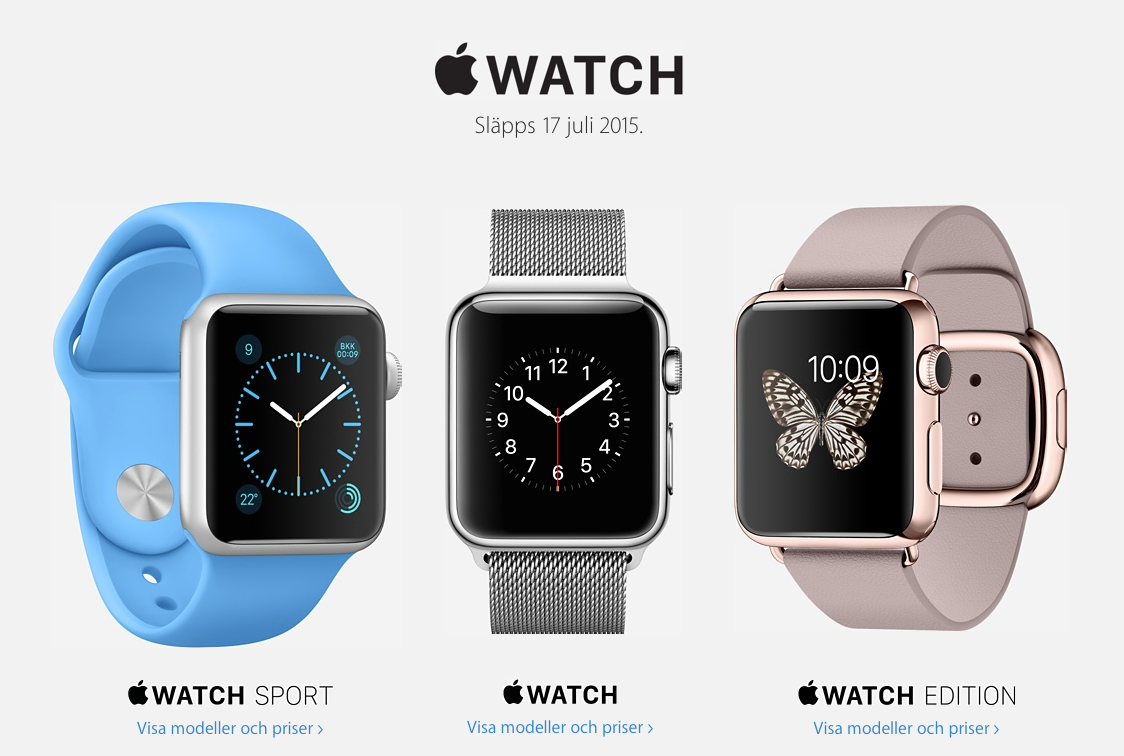 apple watch sweden