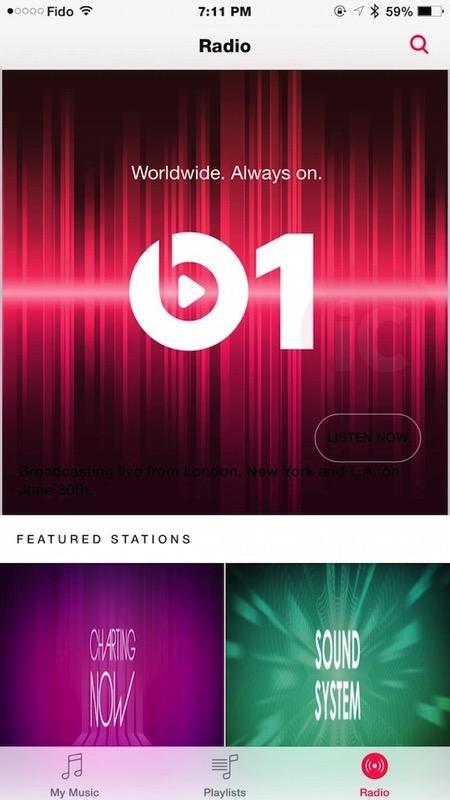 Beats1 apple music canada