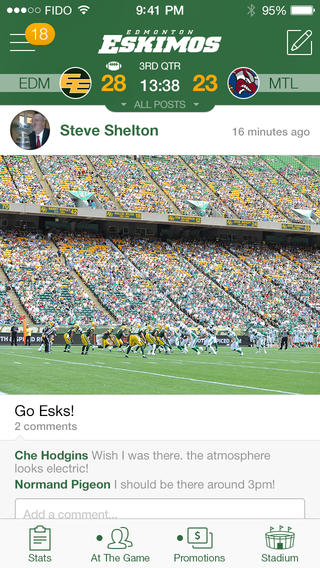 Edmonton eskimos iphone