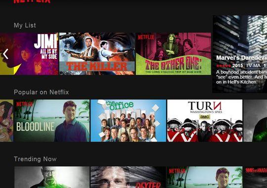 Netflix new interface 2