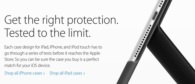 Apple tested cases
