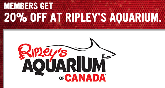 Save 20% Off Tickets at Ripley's Aquarium for Virgin Mobile