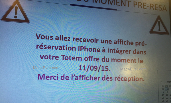 20351 les reservations pour l iphone 6s ouvriront le 11 septembre prochain
