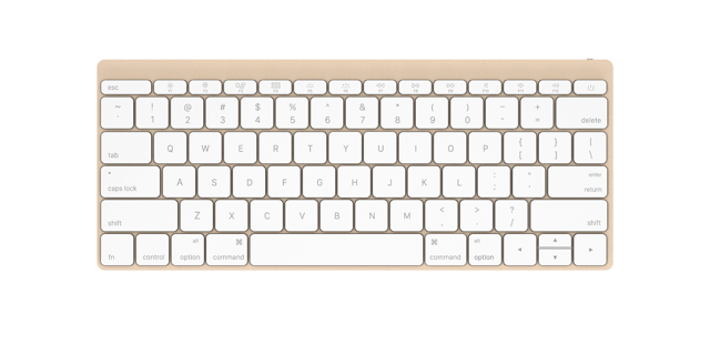 Keyboard front gold 2