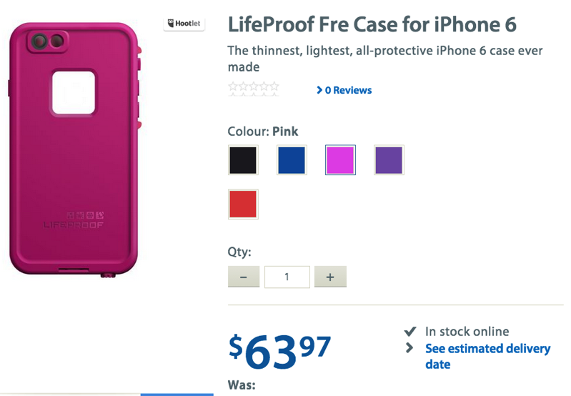 sports shoes 75a04 68bd6 LifeProof Fre Waterproof Case for iPhone 6 on Sale for $63.97 at ...