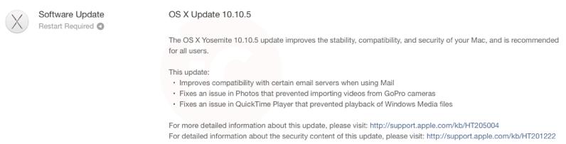 Os x update 10 10 5