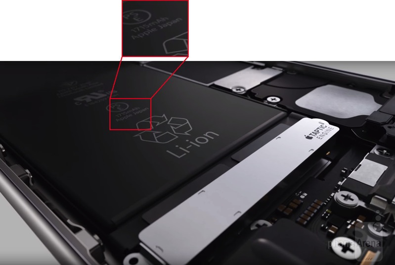 Battery capacity iPhone 6s revealed