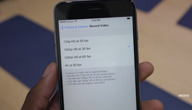 Iphone 4k video