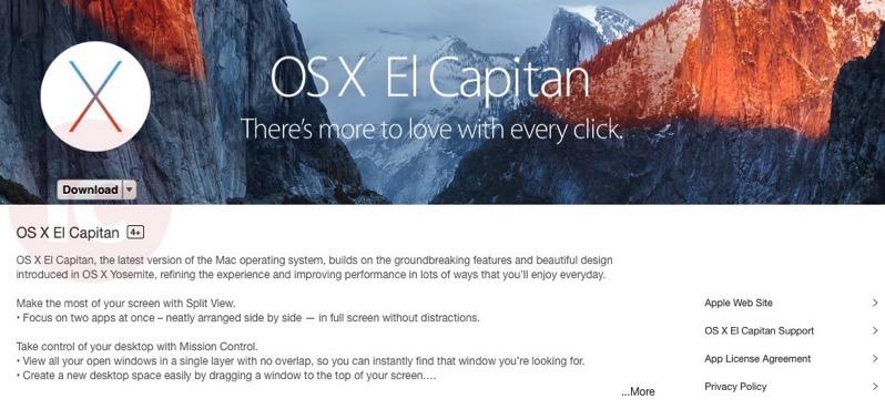 OS X el capitan download