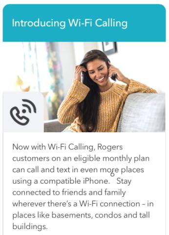 rogers wifi calling