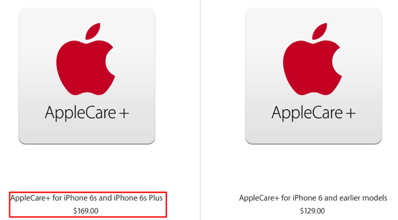 applecare for iphone 6 plus applecare price jumps to 169 in canada for iphone 6s 16594