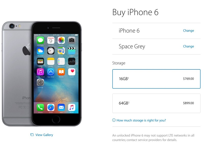 iphone 6 unlocked price in usa canadian prices drop for unlocked iphone 5s iphone 6 6 19338